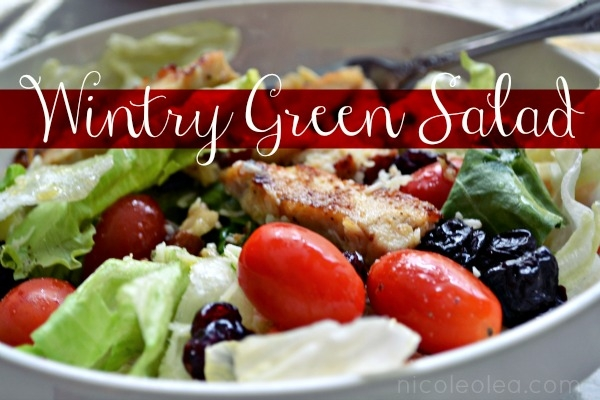 wintry green salad recipe