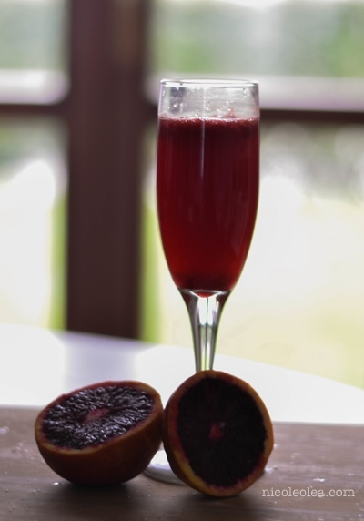 mimosa recipes, blood orange drink recipes,