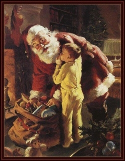 Telling kids the truth about Santa (Vintage Santa photo)