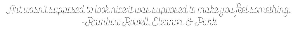 Eleanor & Park art quote