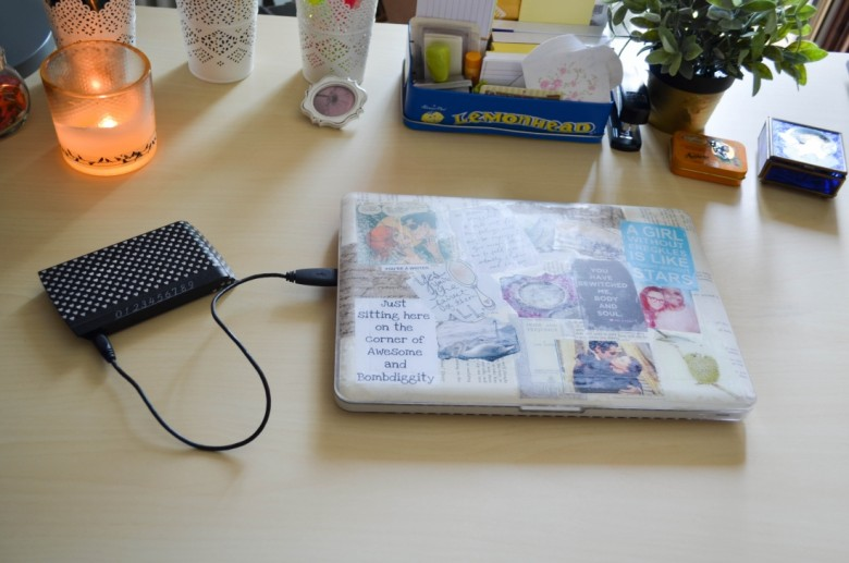 Personalized External Harddrive with Washi Tape-3