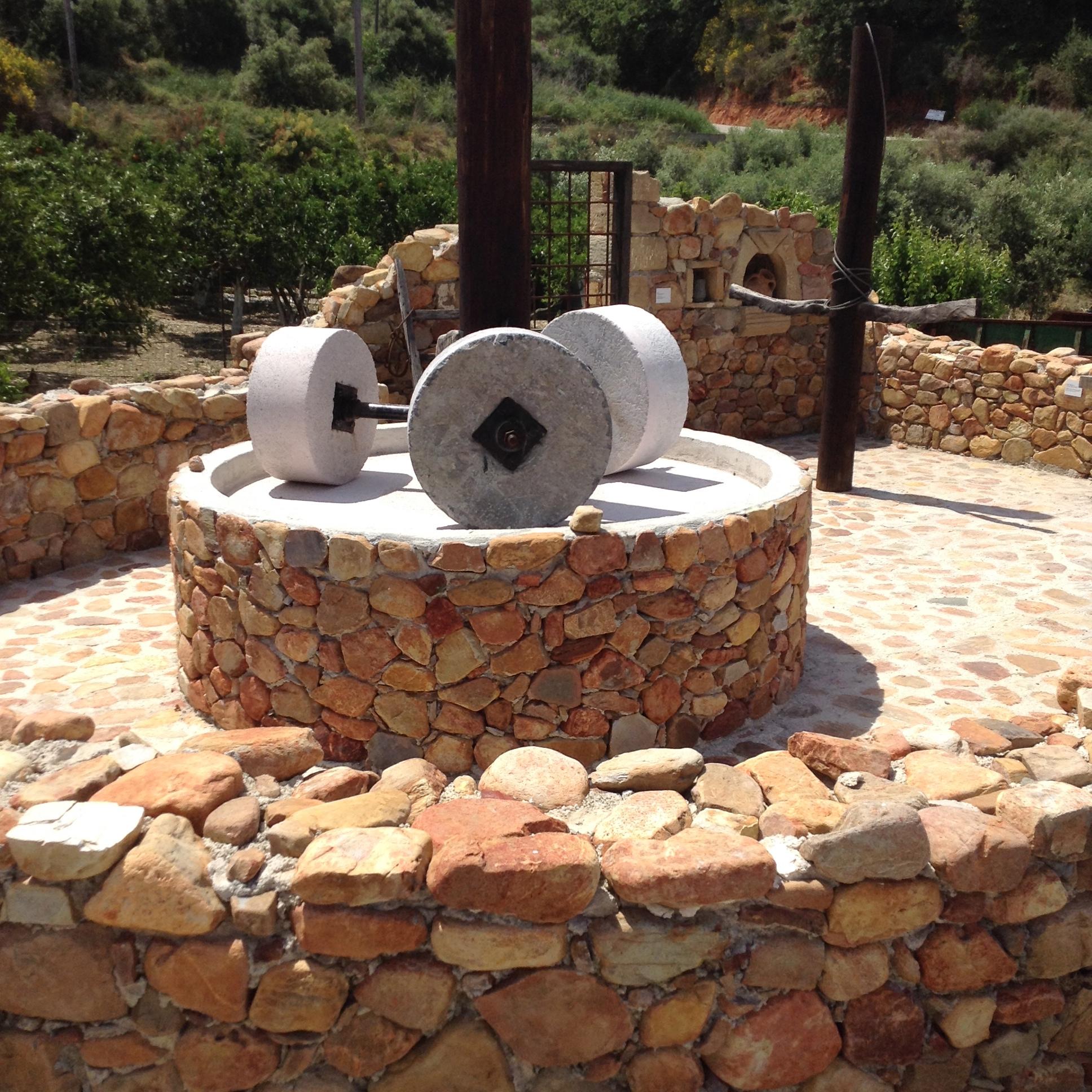 ancient olive press, crete greece