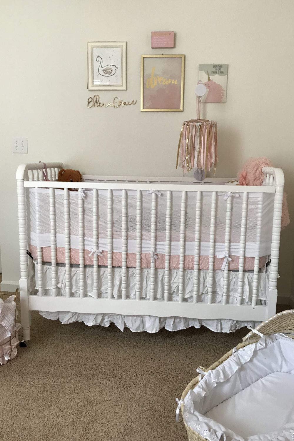 Baby Girl Nursery Pink Gold White