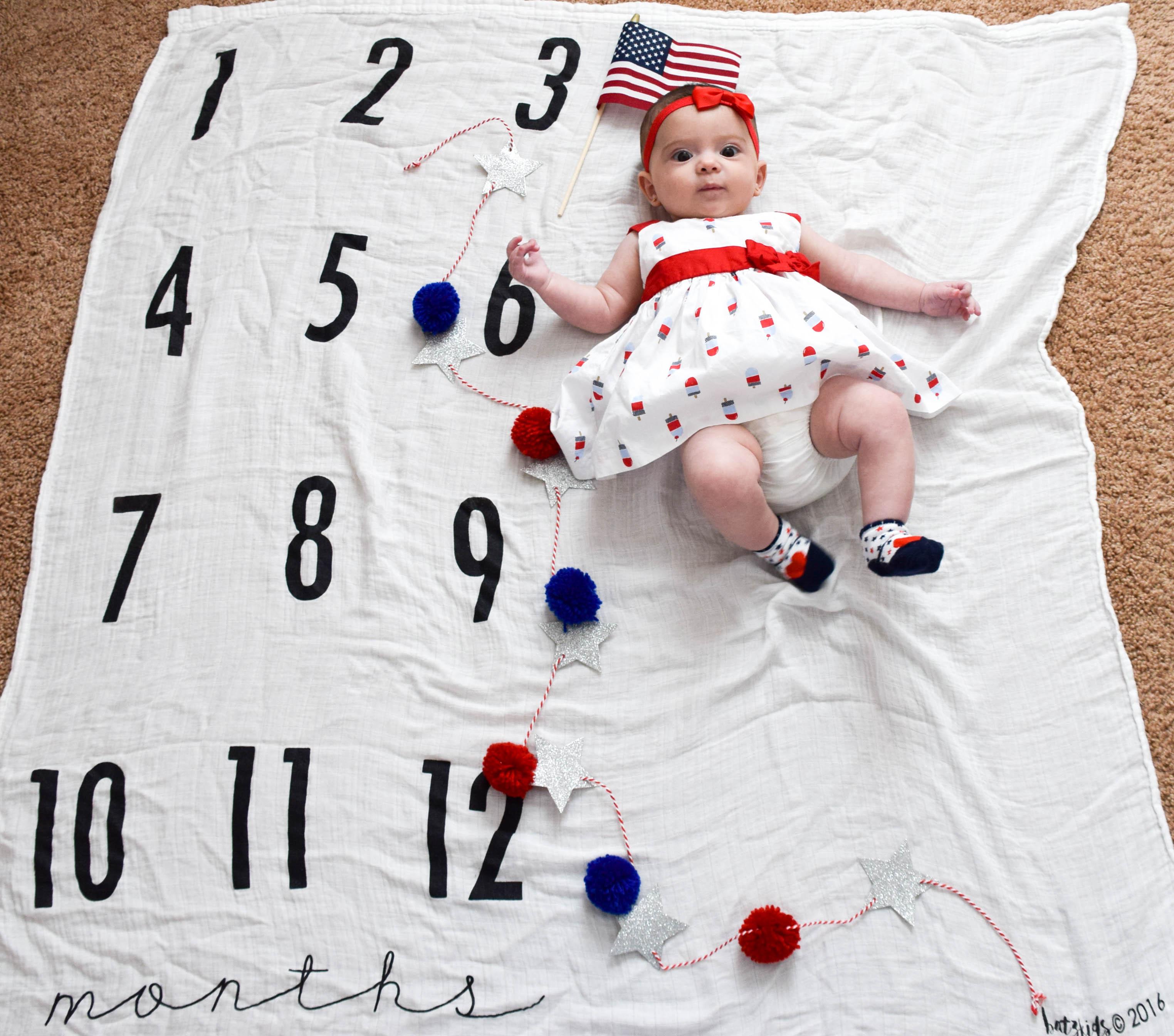 baby milestone blanket 3 months